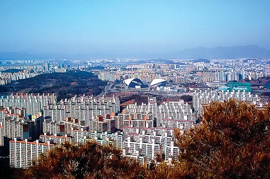 Thành phố Gwangju ở Hàn Quốc.