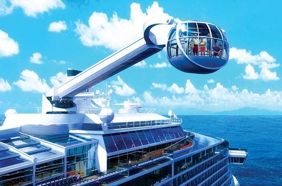 Khoang ngắm cảnh 3600, cao đến 90 m ở đuôi con tàu Quantum of the Seas.