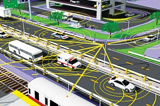 Thiết bị liên lạc V2V gắn trên mỗi chiếc xe phát ra tín hiệu, tạo thành một dòng thông tin liên tục, điều khiển đèn giao thông ảo, hướng dẫn cho từng chiếc xe.