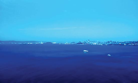 Vịnh San Francisco nhìn từ cầu Cổng Vàng.