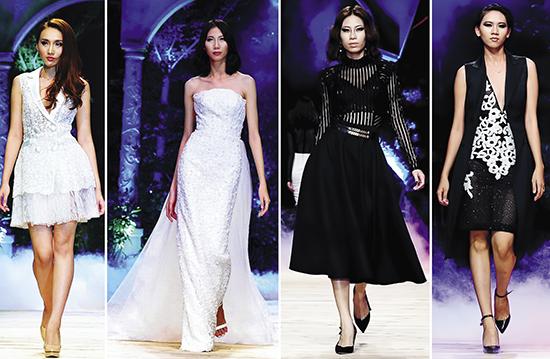 Các mẫu thời trang trong sô diễn Ange ou Démon của nhà thiết kế Chung Thanh Phong. Ảnh: Lý Võ Phú Hưng