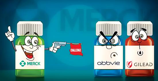 Merck-đe-dọa-thị-phần-của-Gilead-Sciences--và-AbbVie-trên-thị-trường-thuốc-điều-trị-viêm-gan-siêu-vi-C